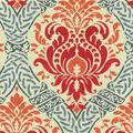 Waverly Lightweight Decor Fabric 54\u0022-Dressed Up Damask/Poppy
