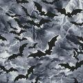 Halloween Cotton Fabric-Flying Bats in Nighttime Sky