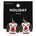 hildie & jo Holiday Earrings-Ugly Sweater