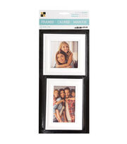 Die Cuts with a View 2 pk Wood Letterboard Frames-White, , hi-res