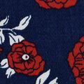 Stretch Twill Fabric 57\u0027\u0027-Red Floral on Navy