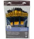 Royal Langnickel 25pc Variety Brush Set-Black Taklon