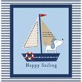 Nursery Cotton Fabric -Sailor Dog
