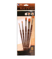 Loew-Cornell Studio Elements 5 pk Golden Taklon Paintbrushes, , hi-res