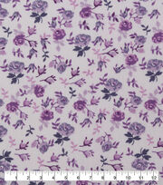 Keepsake Calico Cotton Fabric-Light Purple Packed Floral, , hi-res
