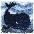 Wonderart Latch Hook Kit 12\u0022X12\u0022-Big Blue Whale