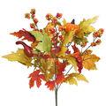 Blooming Autumn 20\u0027\u0027 Pumpkin, Berry & Maple Leaves Bush