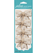 Burlap And Lace Bows, , hi-res