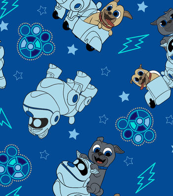 Disney Junior Puppy Dog Pals Fleece Fabric 59''-Adventure