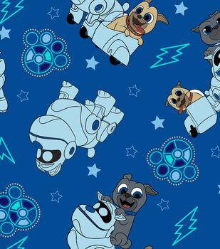 Disney Junior Puppy Dog Pals Fleece Fabric 59''-Adventure