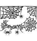 Jolee\u0027s Boutique Glitter Mega Die-Cut Silhouette-Spiders & Webs