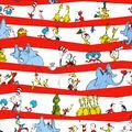 Dr. Seuss Cotton Fabric -Stripe