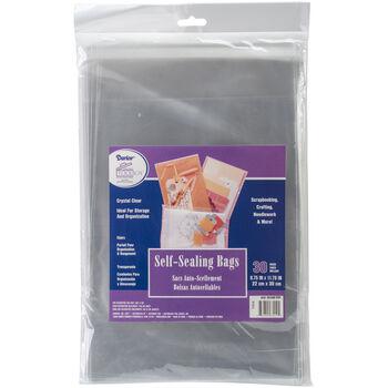 Self-Sealing Bags 30/Pkg-Clear