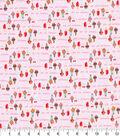 Novelty Cotton Fabric-Glitter Scream for Ice Cream