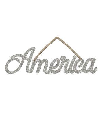 Camp Ann Crafts Galvanized America Sign