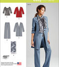 Simplicity Patterns Us1073H5-Simplicity Misses\u0027 Pants, Coat Or Jacket, Scarf And Knit Top-6-8-10-12-14