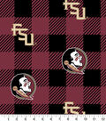 Florida State Seminoles Fleece Fabric-Buffalo Plaid