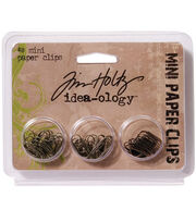 Tim Holtz Idea-Ology Mini Paper Clips Antique Metallic, , hi-res