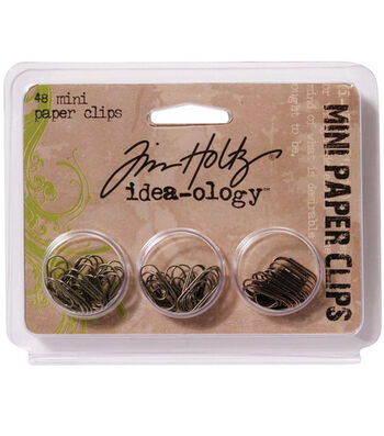 Tim Holtz Idea-Ology Mini Paper Clips Antique Metallic