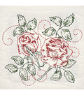 Fairway Stamped Quilt Blocks Running Stitch Rose