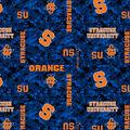 Syracuse University Orange Fleece Fabric -Digital