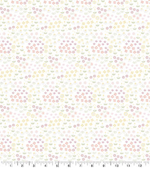 Nursery Flannel Fabric-Ditsy Floral