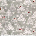 Super Snuggle Flannel Fabric-Red Cardinals in Trees
