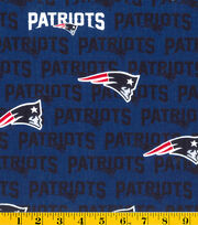 "New England Patriots Cotton Fabric 58""-Navy, , hi-res"