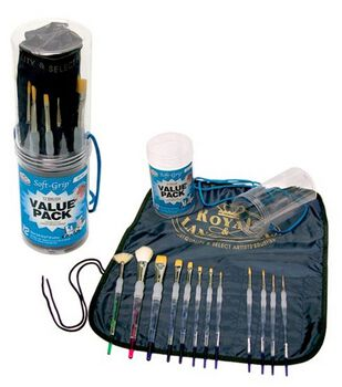 Royal Langnickel Soft Grip Brush Set with Apron & Caddy