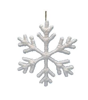 Handmade Holiday Christmas 12''x12'' Fabric Snowflake Wall Decor