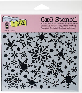 Crafter's Workshop Hot off the Press Template 6''x6''-Snowflakes