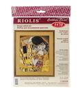 The Kiss/G. Klimt\u0027s Painting Counted Cross Stitch Kit-11.75\u0022X13.75\u0022 14 Count
