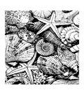 Crafty Individuals Unmounted Rubber Stamp 3.77\u0022X5.39\u0022-Seaside Treasures