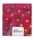Fabric-Quarters Assorted Batik Fabric-Magenta