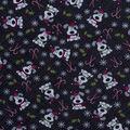 Christmas Cotton Fabric-I Woof You Holiday Black Glitter
