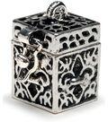 Darice Prayer Box Charm-Antique Silver Fleur De Lis