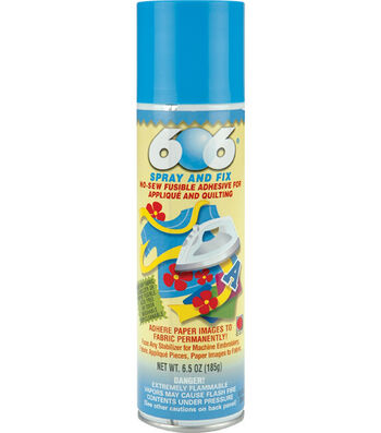 Odif USA 606 Spray & Fix No Sew Fusible Adhesive for Applique & Quilting