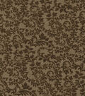 Keepsake Calico Cotton Fabric-Swirling Vines Brown