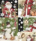 Christmas Cotton Fabric 43\u0022-Santa & Friends