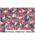 Patriotic Cotton Fabric 43\u0022-Waving Flag