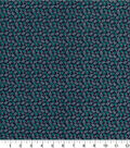 Quilter\u0027s Showcase Fabric 44\u0027\u0027-Pool Green Ditsy Floral on Navy