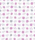1930\u0027s Premium Cotton Print Fabric 43\u0027\u0027-Kitty & Yarn Ball on White