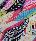 Modern Cotton Fabric -Patterned Feathers