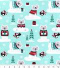 Snuggle Flannel Fabric -Winter Polar Bear