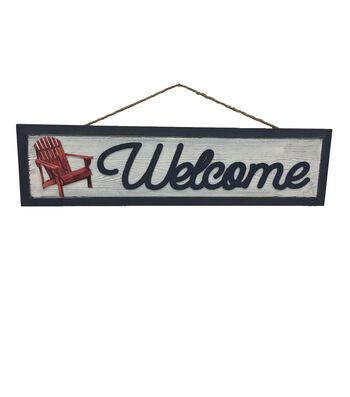 Camp Ann Wall Decor-Welcome & Chair