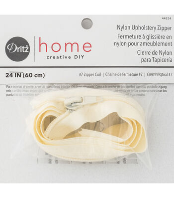 Dritz Home Nylon Upholstery Zipper Cream 24""
