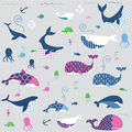 York Wallcoverings Wall Decals-Sea Whales