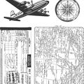 Tim Holtz Cling Rubber Stamp Set-Air Travel