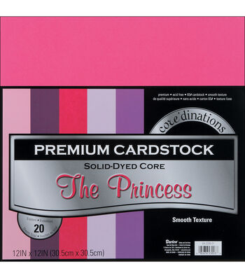 "Core'dinations Value Pack Cardstock 12""X12"" 20/Pkg-The Princess-Smooth"
