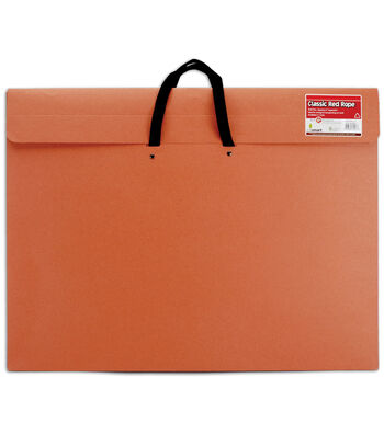 "Red Rope Paper Portfolio W/Soft Handle 20""x26""-Red"